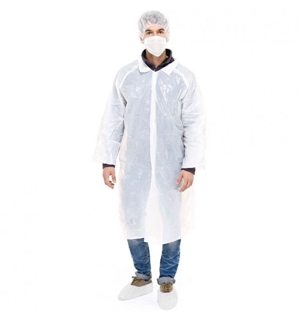 Disposable Protection Kit TNT PE 3 pieces + Mask White (100 Kits)