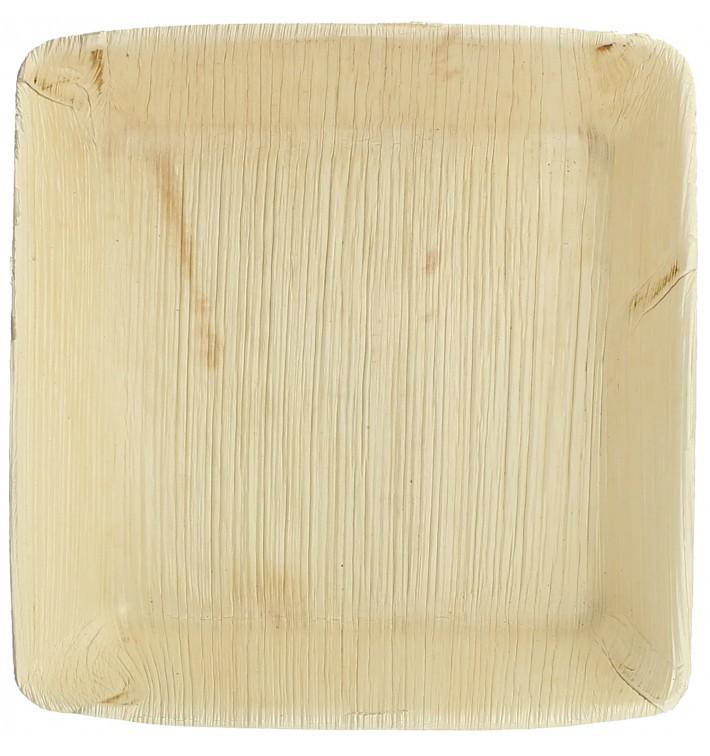 Palm Leaf Plate Deep Square Shape 16x16cm (25 Units)