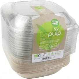 Sugarcane Container with Lid 750ml 19x19x8cm (90 Units)