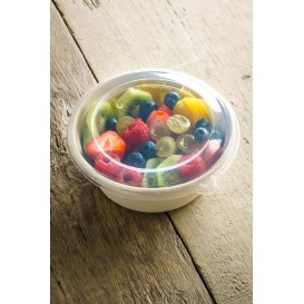 Plastic Lid PP Clear for Bowl 500ml Ø15cm (500 Units)