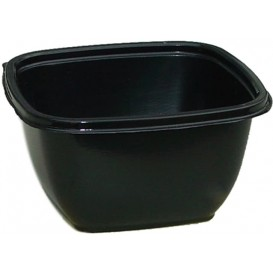 Plastic Bowl PET Black 375ml 12,5x12,5x5cm (500 Units)