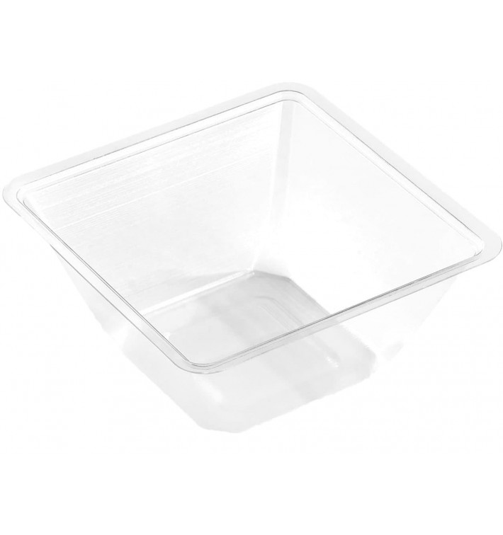 Plastic Mini-Bowl PET Heat Sealable 250ml 9x9x6cm (50 Units)