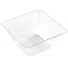 Plastic Mini-Bowl PET Heat Sealable 250ml 9x9x6cm (600 Units)