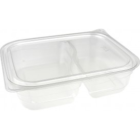 Plastic Deli Container PET 2C 220/280ml 18x15x4cm (75 Units)