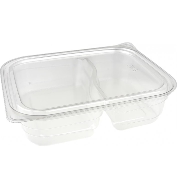 Plastic Deli Container PET 2C 220/280ml 18x15x4cm (75 Units)
