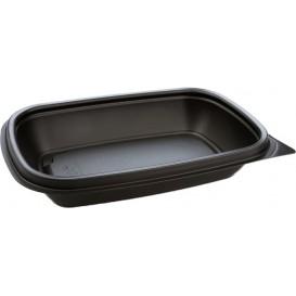 Plastic Deli Container PP Black 375ml 20x13x4cm (300 Units)