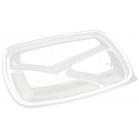 Plastic Lid for Deli Container PP Rectangular shape 3C Black 23x17cm (75 Units)