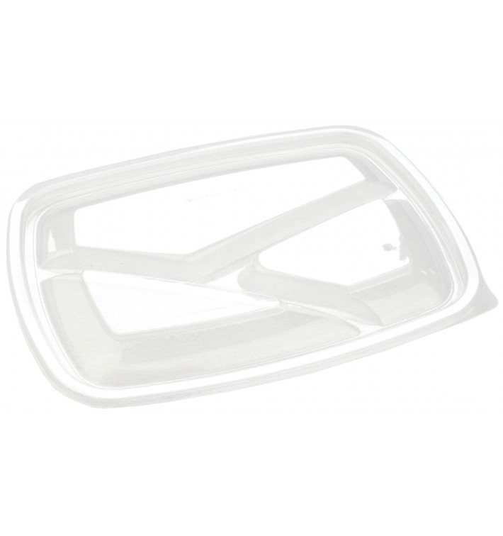 Plastic Lid for Deli Container PP Rectangular shape 3C Black 23x17cm (300 Units)
