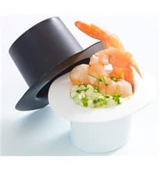 "Plastic Tasting Bowl Hat Design PP ""Hot Form"" White 60ml (24 Units)"