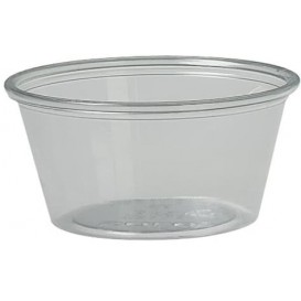 Plastic Souffle Cup PET Clear 2Oz/60ml Ø6,6cm (2500 Units)