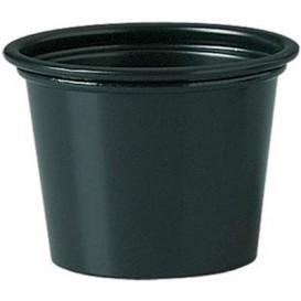 Plastic Souffle Cup PP Black 30ml Ø4,8cm (2500 Units)