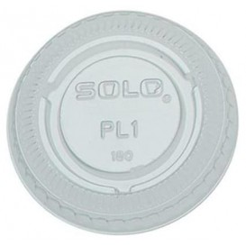 Plastic Lid PET Crystal Closed Flat Ø4,8cm (100 Units)