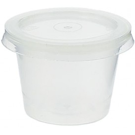 Plastic Souffle Cup with Lid PP 33ml (100 Units)