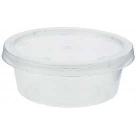 Plastic Souffle Cup with Lid PP 85ml (100 Units)