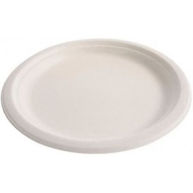 Sugarcane Plate White Ø26 cm (25 Units)