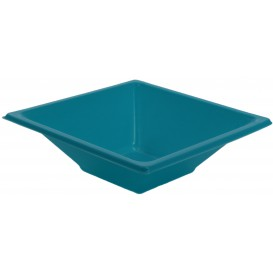 Plastic Bowl PS Square shape Turquoise 12x12cm (25 Units)