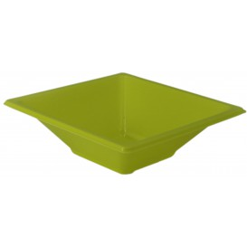 Plastic Bowl PS Square shape Pistachio 12x12cm (12 Units)