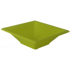 Bol de Plastico Cuadrado Pistacho 120x120x40mm (25 Uds)