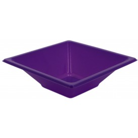 Plastic Bowl PS Square shape Lilac 12x12cm (12 Units)