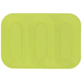 """Plastic Tray Microwavable """"X-Table"""" 3C Lime Green 33x23cm (2 Units)"""