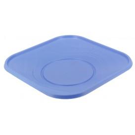 """Plastic Plate PP """"X-Table"""" Square shape Violet 18 cm (8 Units)"""