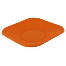"Plastic Plate PP ""X-Table"" Square shape Orange 18 cm (120 Units)"