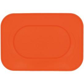 "Plastic Tray Microwavable ""X-Table"" Orange 33x23cm (2 Units)"