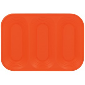 "Bandeja de Plastico PP ""X-Table"" 3C Naranja 330x230mm (2 Uds)"