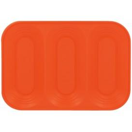 "Bandeja de Plastico PP ""X-Table"" 3C Naranja 330x230mm (30 Uds)"
