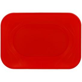 """Bandeja de Plastico PP """"X-Table"""" Rojo 330x230mm (2 Uds)"""