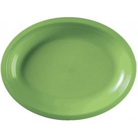 Plastic Platter Microwavable Oval Shape Lime Green 25,5x19 cm (50 Units)