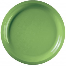 "Plastic Plate Lime Green ""Round"" PP Ø29 cm (25 Units)"