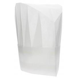 "Disposable Chef Hat Pinstripe ""TST"" White (10 Units)"