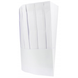 Disposable Paper Chef Hat Pinstripe (10 Units)