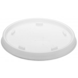 Plastic Lid with Straw Slot PS Translucent Ø8,1cm (100 Units)