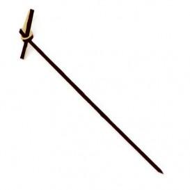 Bamboo Food Pick Black Bow Design 90cm (100 Units)
