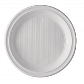 Plastic Plate PS Flat White 17 cm (100 Units)