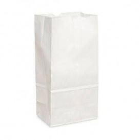 Paper Bag without Handle Kraft White 18+11x34cm (25 Units)