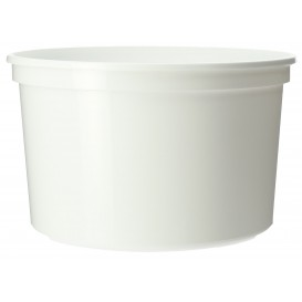 Plastic Deli Container White PP 500ml Ø11,5cm (500 Units)