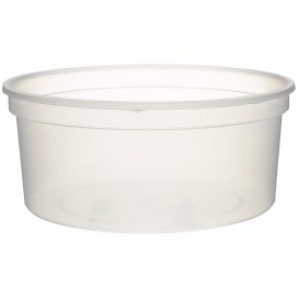 Plastic Deli Container Clear PP 350 ml Ø11,5cm (50 Units)