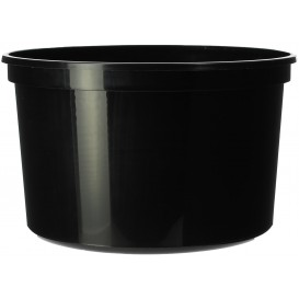 Plastic Deli Container Black PP 500ml Ø11,5cm (50 Units)