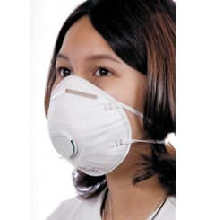Disposable Dust Mask with Valve White FFP2 (10 Units)
