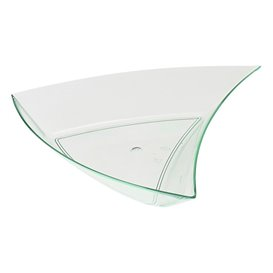 Tasting Sauce Bowl PS Triangle Shape Water Green 12,5x12x2cm (12 Uts)