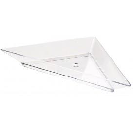 Plastic Tasting Plate PS Triangular shape 5x10cm (576 Units)