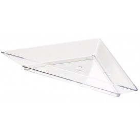 Plastic Tasting Plate PS Triangular shape 5x10cm (8 Units)