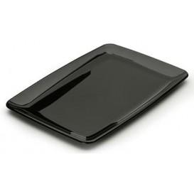 Bandeja Plastico Rectangular Dura Negro 20x28 cm (100 Uds)
