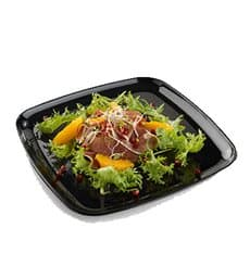 Plastic Tray Square Shape Hard Black 27x27cm (5 Units)