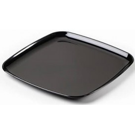 Plastic Tray Square Shape Hard Black 30x30cm (25 Uds)
