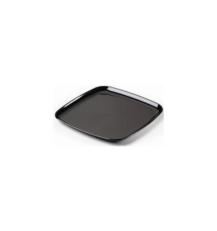 Plastic dienblad Vierkant Hard zwart 40x40 cm (25 eenheden)