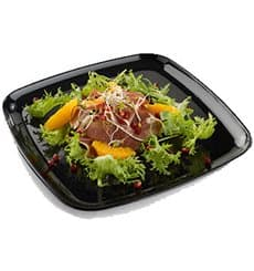 Plastic Tray Square Shape Hard Black 40x40 cm (5 Units)